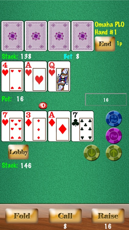 Headsup Poker Free (Hold'em, Blackjack, Omaha) screenshot-3