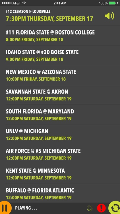 College Football Live - Radio, Scores & Schedules