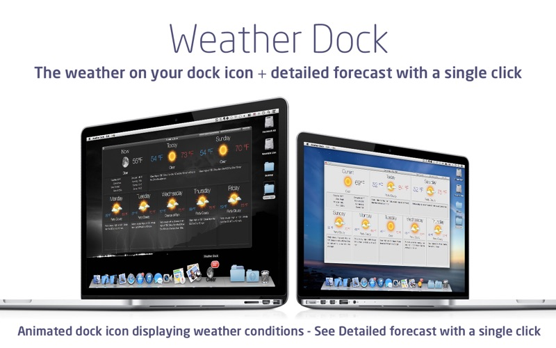 Screenshot #1 for Weather Dock: Desktop forecast