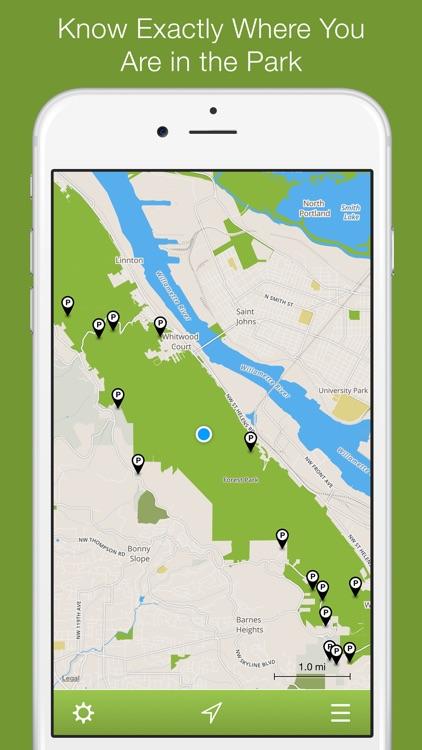 Forest Park Offline Trail Map, Portland, Oregon