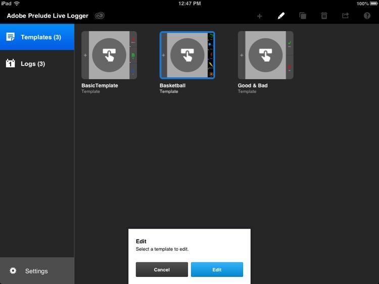 Adobe Prelude Live Logger