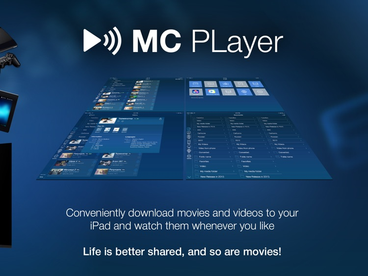 MCPlayer HD Lite wireless video player for iPad to play movies without conversion screenshot-4