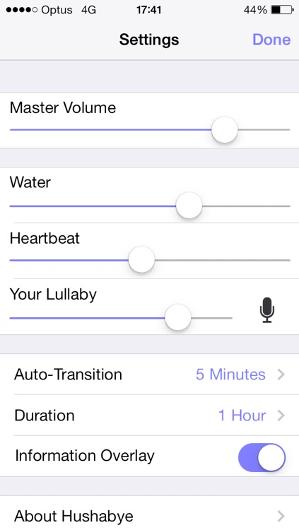 Hushabye – Heartbeat, Lullaby, and Natural Water White Noise for Baby Sleep screenshot-3