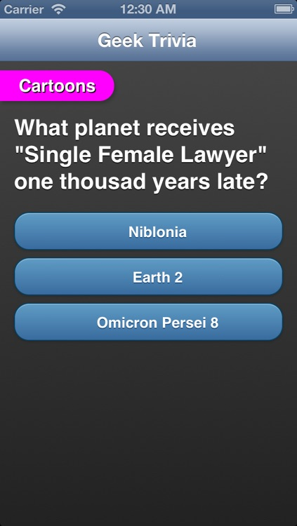 Geek Trivia