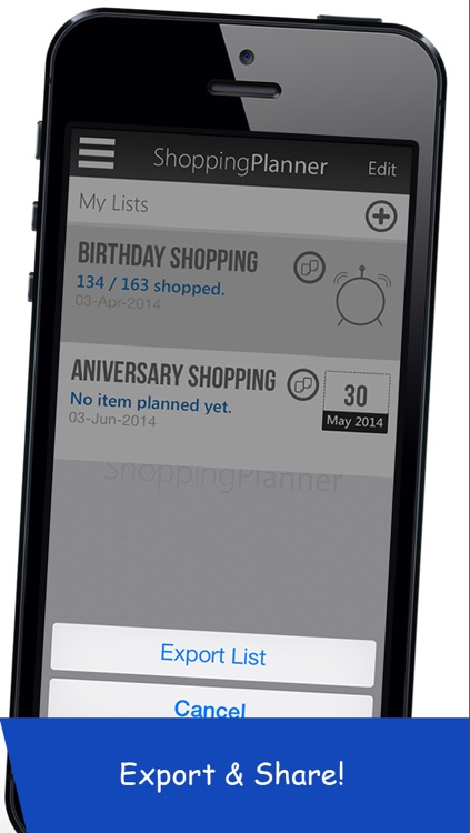 Shopping Planner - Grocery List Items Organizer screenshot-4