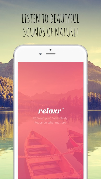 Relaxr: Sounds of Nature