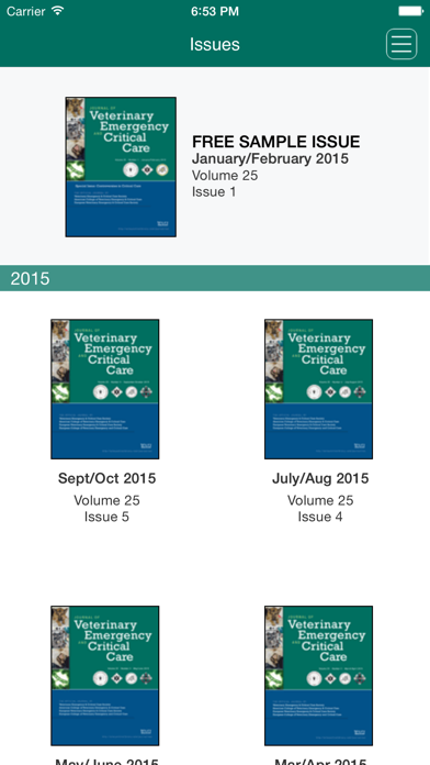 Journal of Veterinary Emergency and Critical Care Screenshot