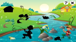 對於2-5歲的幼兒對遊戲釣魚:遊戲,拼圖和謎語的幼兒園,學前班或幼兒園。 學習 與海,水,魚,漁民和漁桿.屏幕截圖4