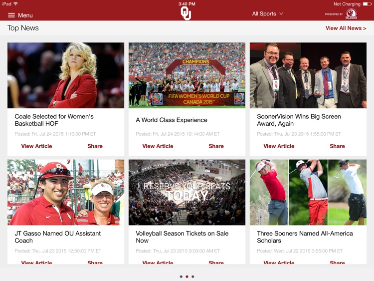 SoonerSports2Go for iPad screenshot-3