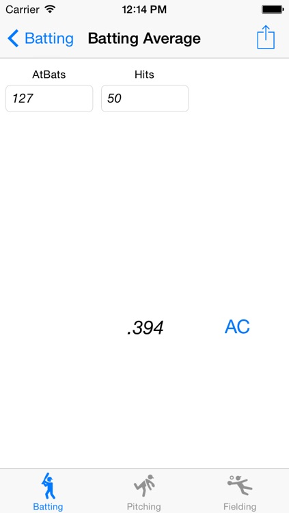 Baseball Statistics Calculator screenshot-3