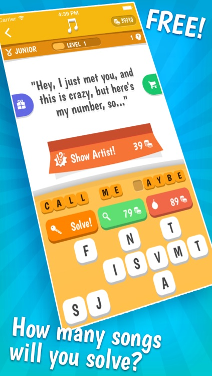 Song Quiz – The Free Lyric Guessing Game screenshot-0