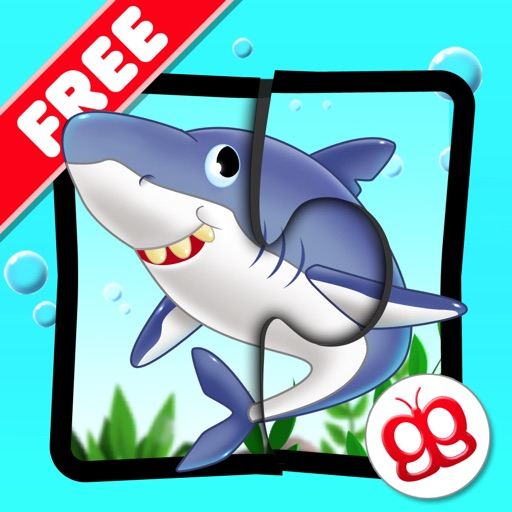 Ocean Jigsaw Puzzles 123 Free - Word Learning Puzzle Game for Kids icon