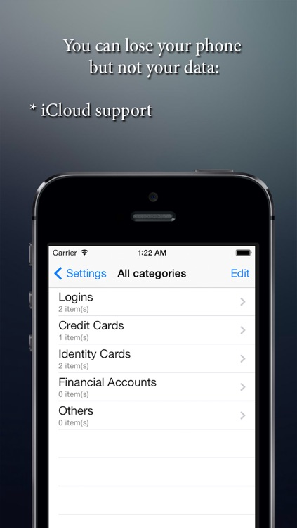 Safebook pro - save my personal data: logins, passwords, passports, etc or the best app for saving login password and all private data. screenshot-4