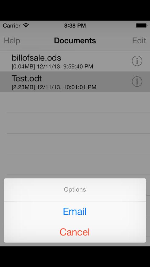 文档阅读器 App 截图
