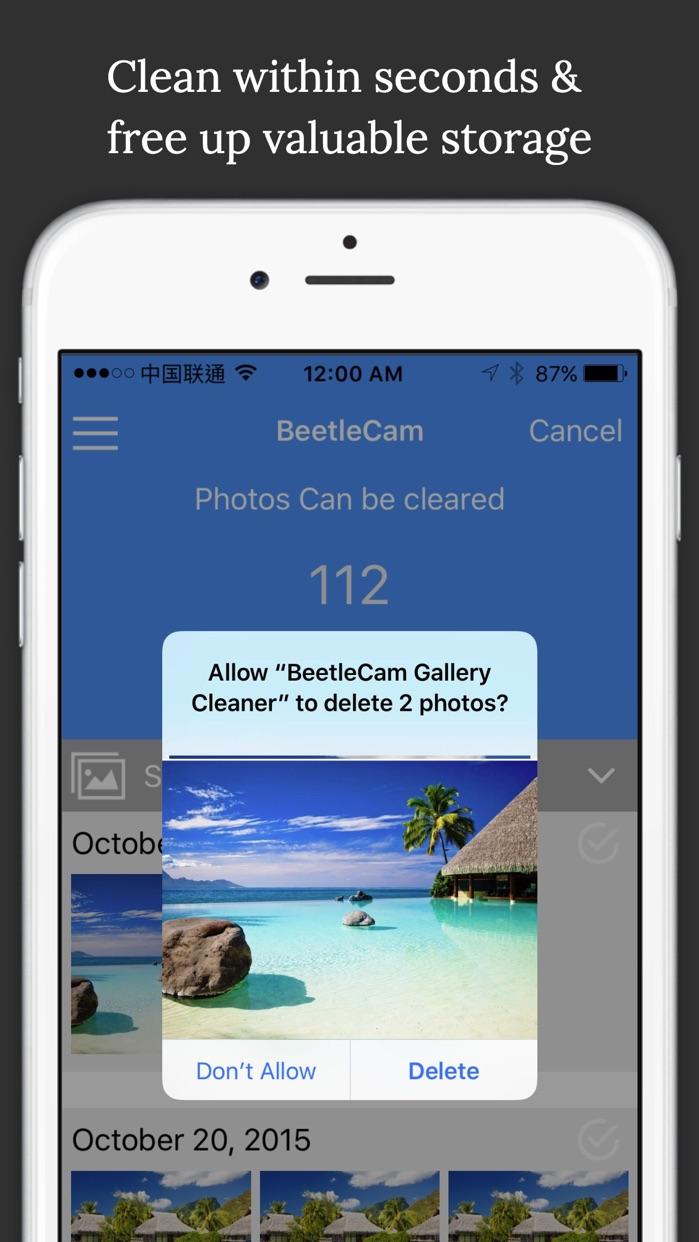 BeetleCam Gallery Cleaner - Duplicate Photos Fixer & Similar Photo Cleanup Screenshot