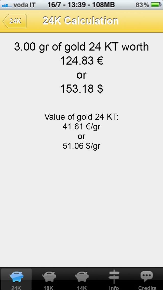 金の計算機の値のスクリーンショット2
