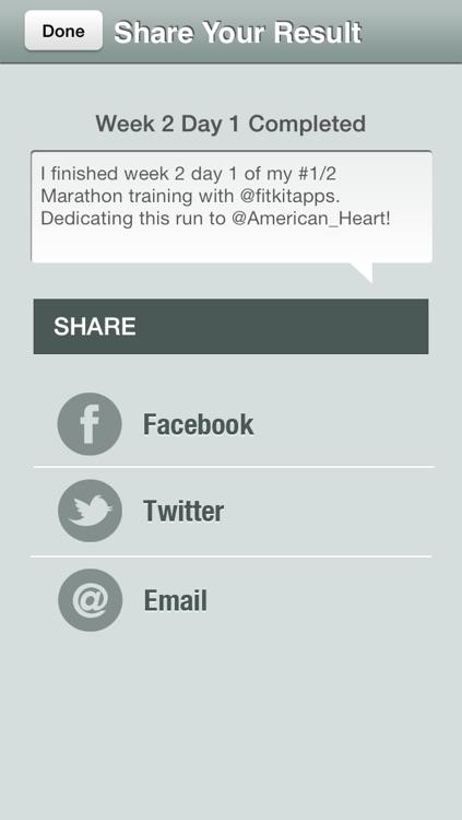 Half Marathon Trainer Free - Run for American Heart screenshot-3