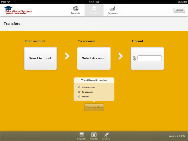 Educational Systems Federal Credit Union for iPad screenshot-4