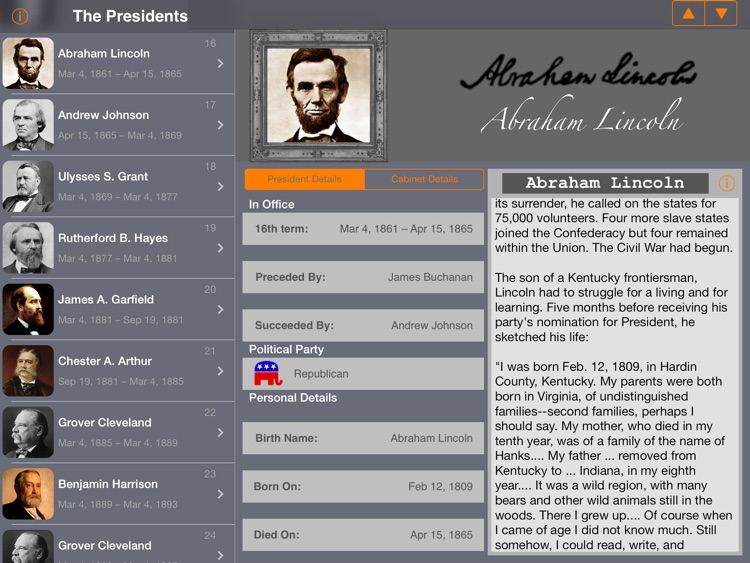 US Presidents (American President Life History) screenshot-1