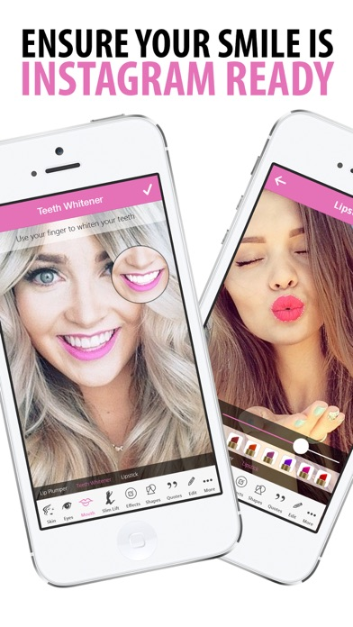Selfie Photo Editor and Stick Timer - Cosmetic Beauty Makeover Booth, Retouch Skin, Lift Face, Add Makeup screenshot
