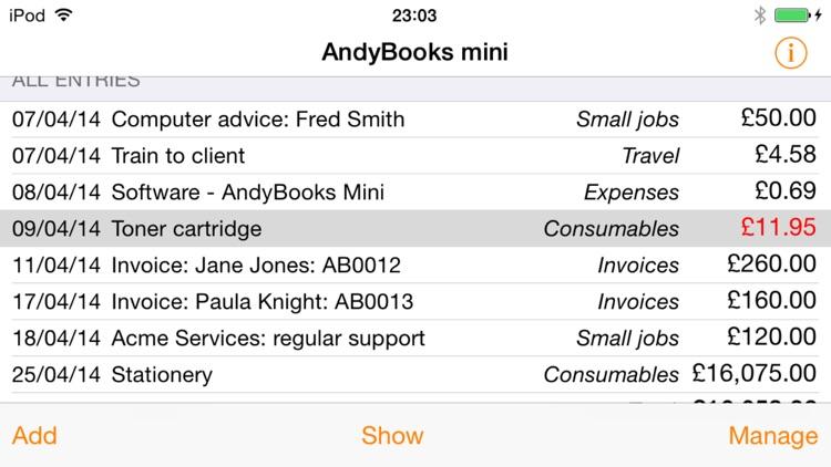 AndyBooks Mini
