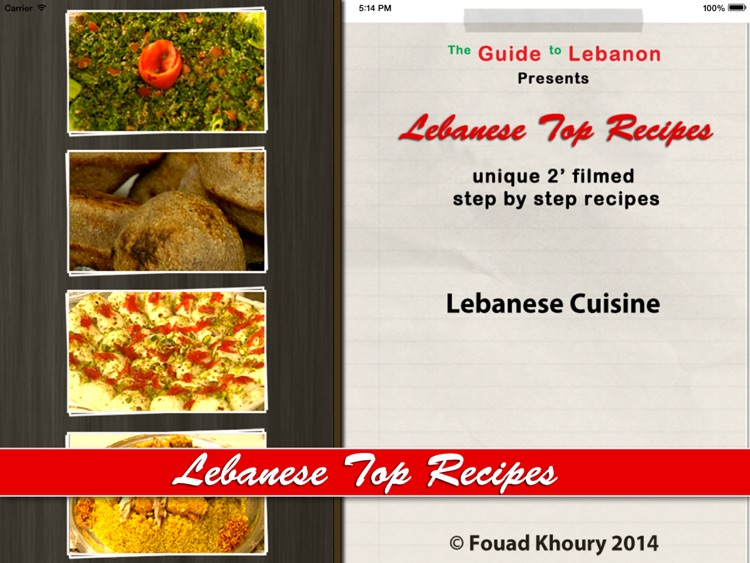 "Lebanese Top Recipes ""for iPad"" screenshot-3"