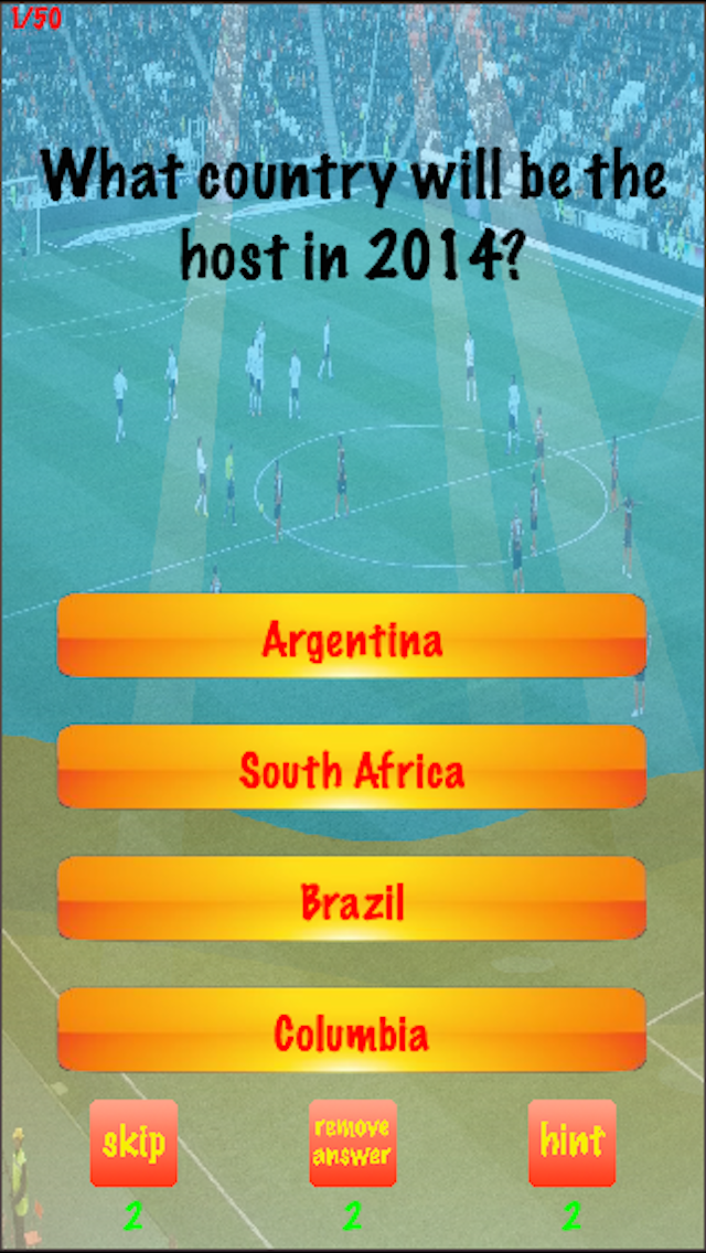 You Think You Know Me? Brazil Cup 2014 Edition Trivia Quiz screenshot one
