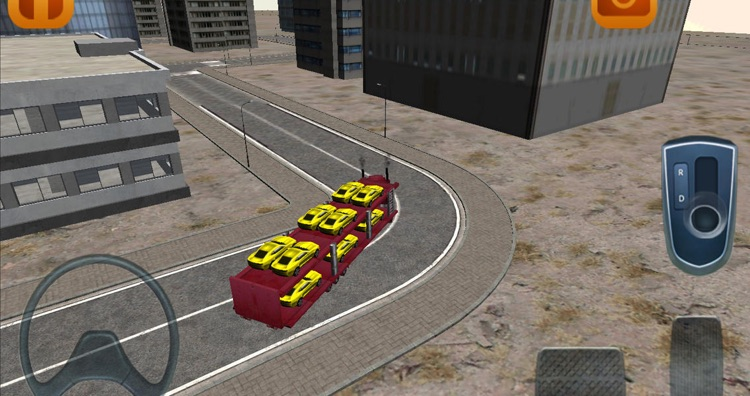 Car transporter parking game