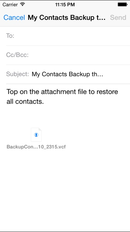 My Contacts Backup Pro (Easy contacts backup) screenshot-3