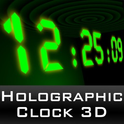 HoloClock3D - a holographic effect 3D clock with alarm upgrade and free weather info