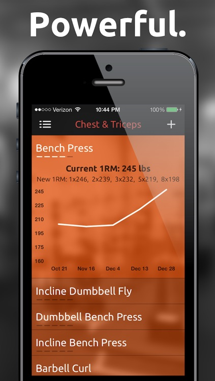 Fitted Lifts - Workout log and exercise tracker for bodybuilding and weight training screenshot-1