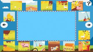 農場拼圖 - 拼圖兒童,幼兒和家長的遊戲! 學習 與動物,農民,牛,馬,羊,鵝,鴨,蜜蜂和蝴蝶的幼兒園,學前班和幼兒園屏幕截圖4