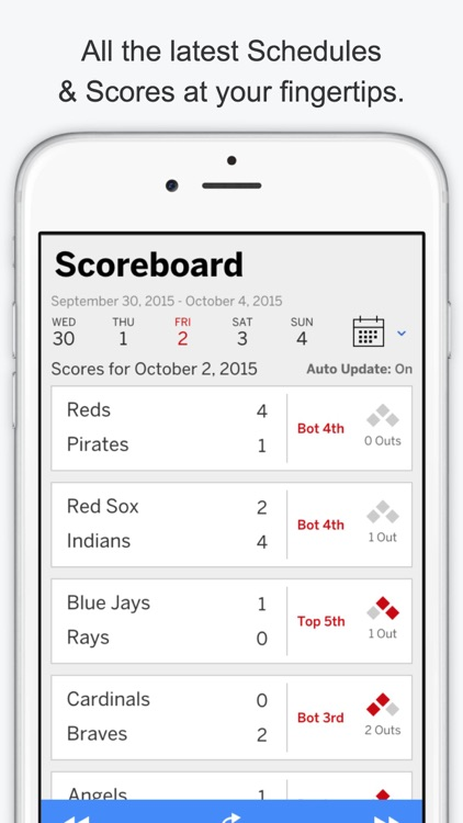 GameDay Pro Baseball Radio - Live Playoff Games, Scores, Highlights, News, Stats, and Schedules screenshot-3