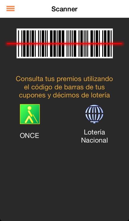 Lotería , Sorteos y Cupón ONCE con scanner para códigos de barras. Lotería Navidad - iLoterias