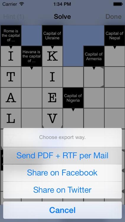 Cruciverber LITE - the crossword generator screenshot-3