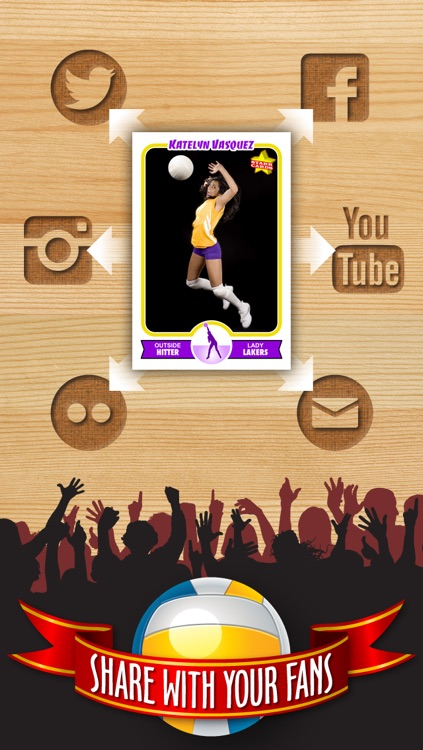 Volleyball Card Maker - Make Your Own Custom Volleyball Cards with Starr Cards screenshot-3