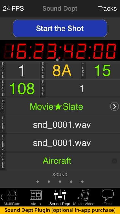 MovieSlate® 7 (Clapperboard & Shot Log)