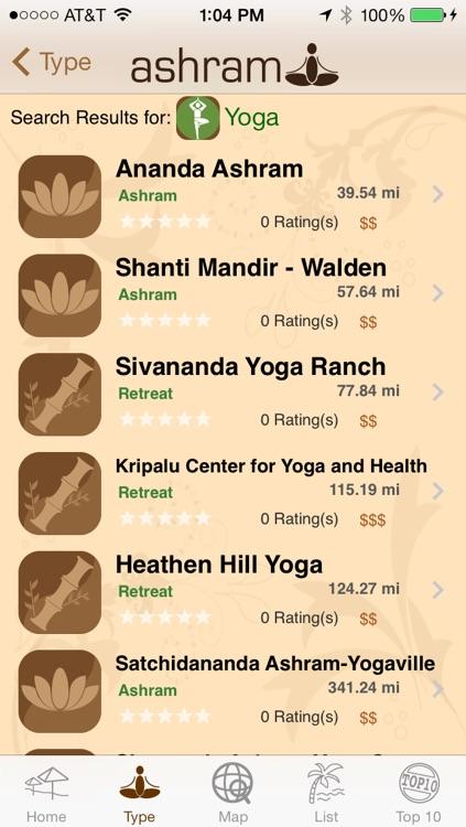 Ashram yoga retreat and spa finder screenshot-3