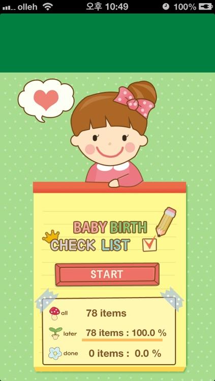 Checklist for baby birth - Prepare your labor