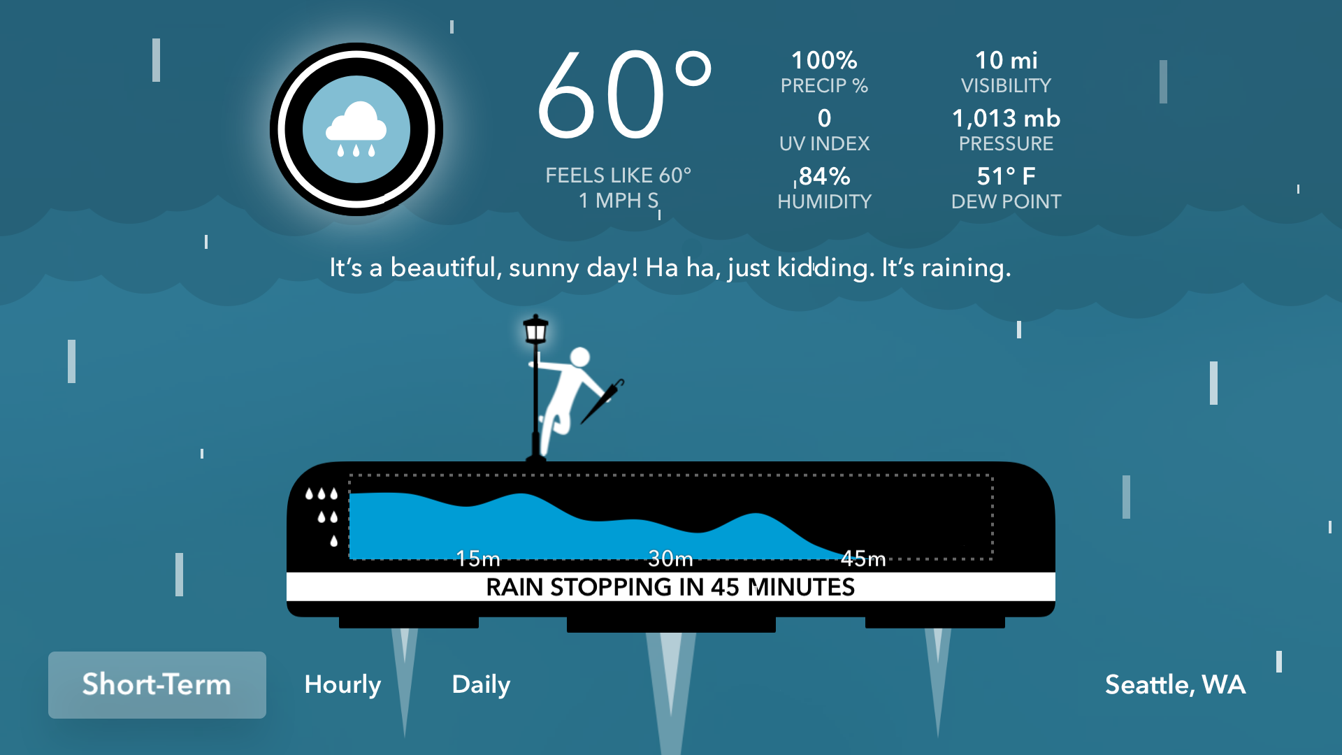 CARROT Weather: Talking Forecast Robot screenshot 2