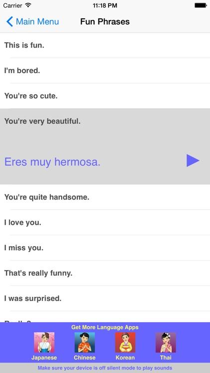 Speak Spanish Travel Phrasebook screenshot-3