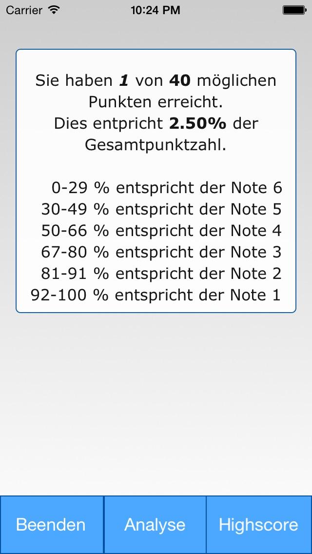 Screenshot for autoKAUFMANN Prüfungstrainer in Germany App Store