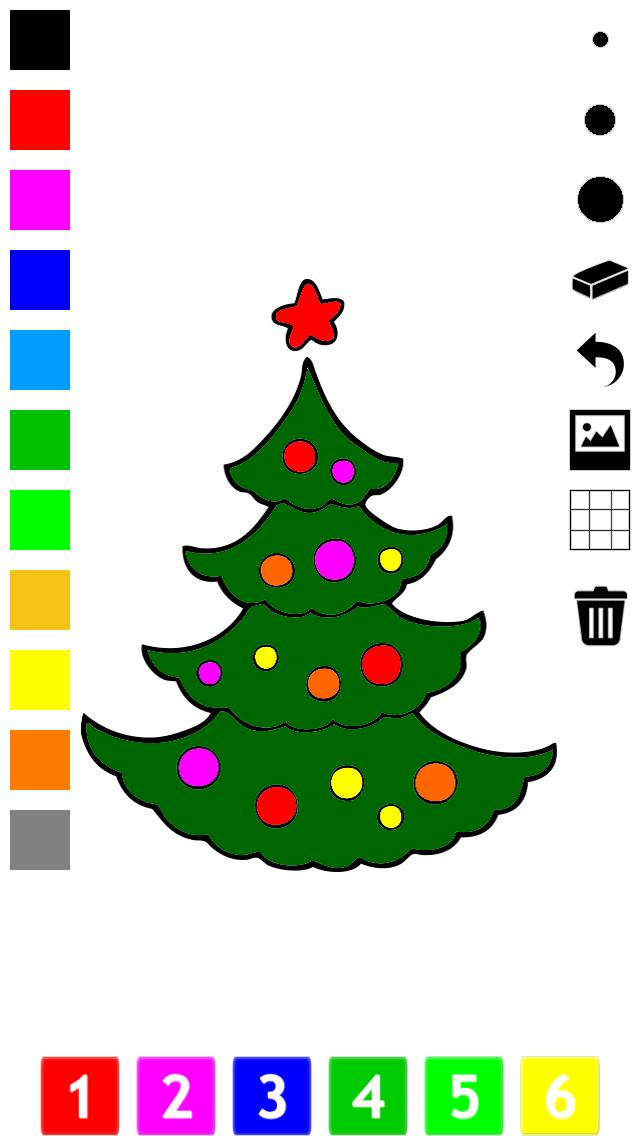 塗り絵の本 子供のためのクリスマスのサンタクロース、雪だるま、エルフや贈り物のような多くの写真とともに。絵を描画する方法:学ぶためのゲームのおすすめ画像1