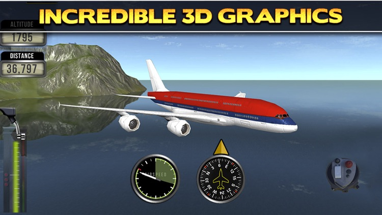 3D Plane Flying Parking Simulator Game - Real Airplane Driving Test Run Sim Racing Games PRO screenshot-3