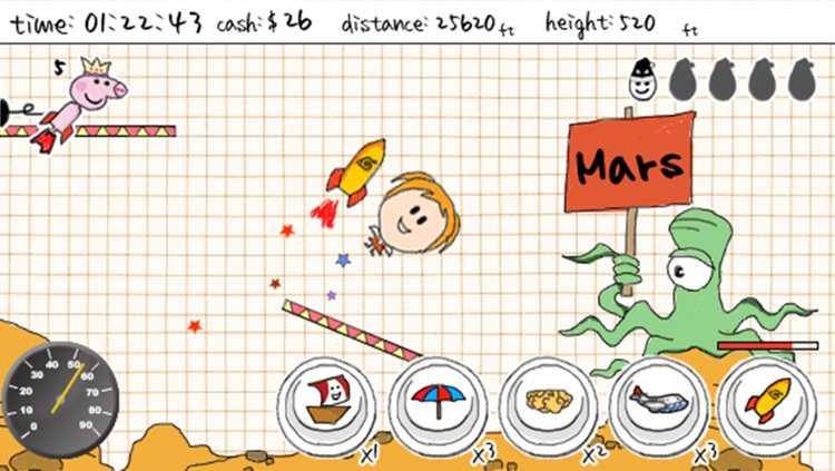 A Doodle Fly - Fly to Mars screenshot-0