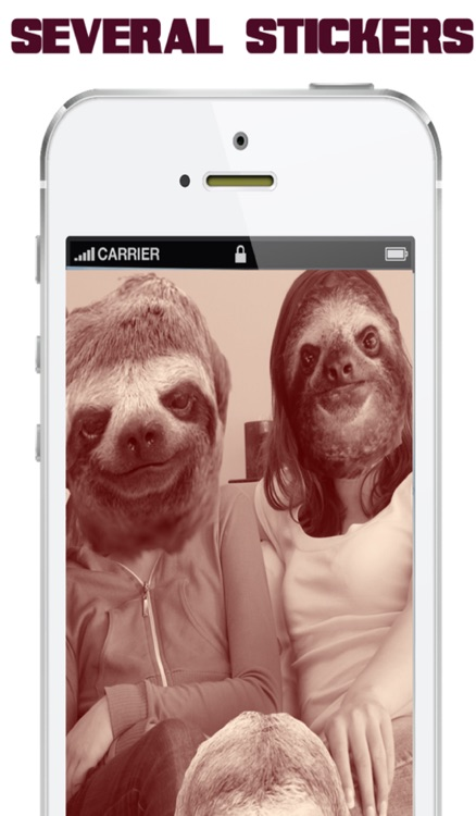 Slothify™-Cute Sloth Face Stickers For Your Photos!