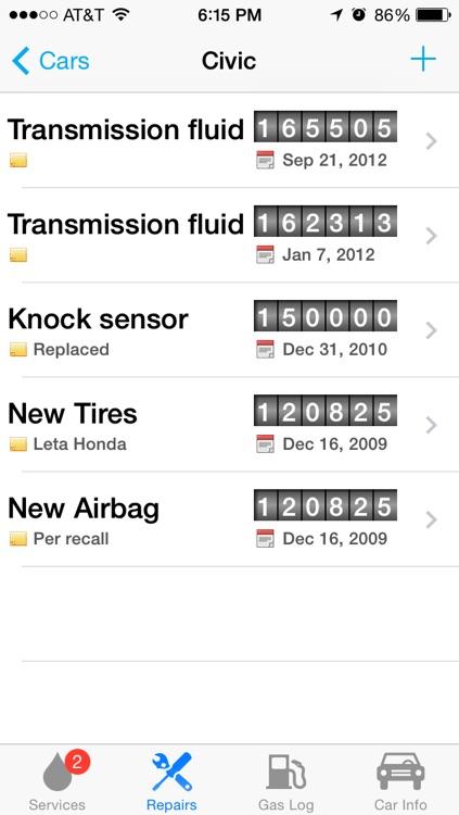 Car Minder Plus - Car Maintenance and Gas Log (MPG) screenshot-3