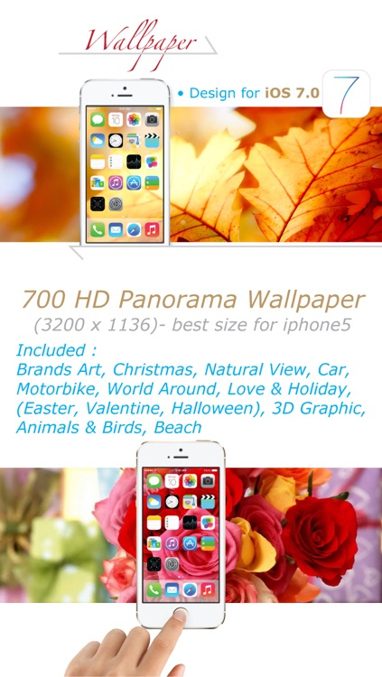 Wallpaper+ for iOS 7 (Panorama 3200x1136 pixels) screenshot-0
