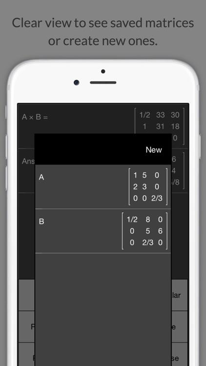 Matrix Calculator +    —Lite Version