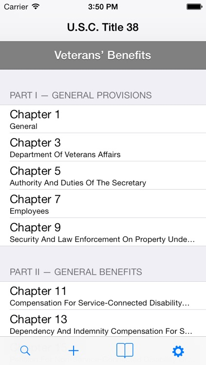 U.S.C. Title 38 - Veterans' Benefits